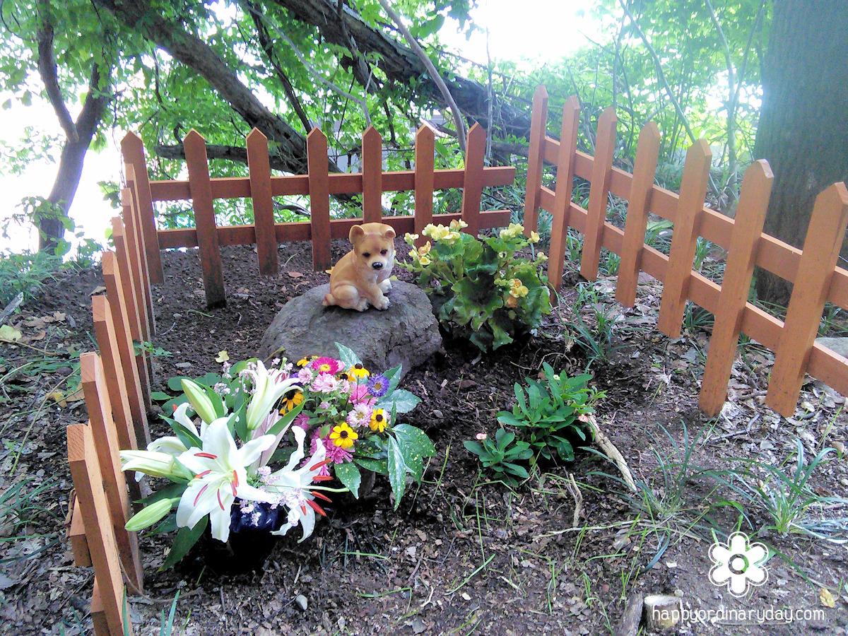 チビちゃんのお墓 2015年8月撮影