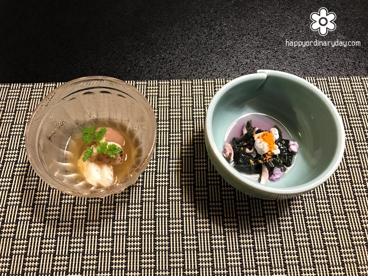金時草と白舞茸のお浸し&無花果白ワイン煮