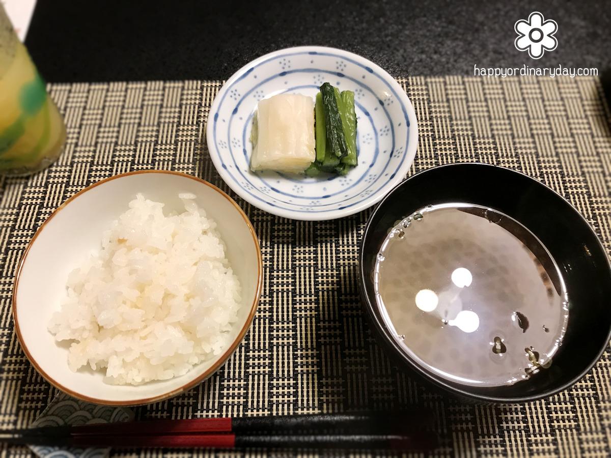 釜炊きご飯・汁物・香の物