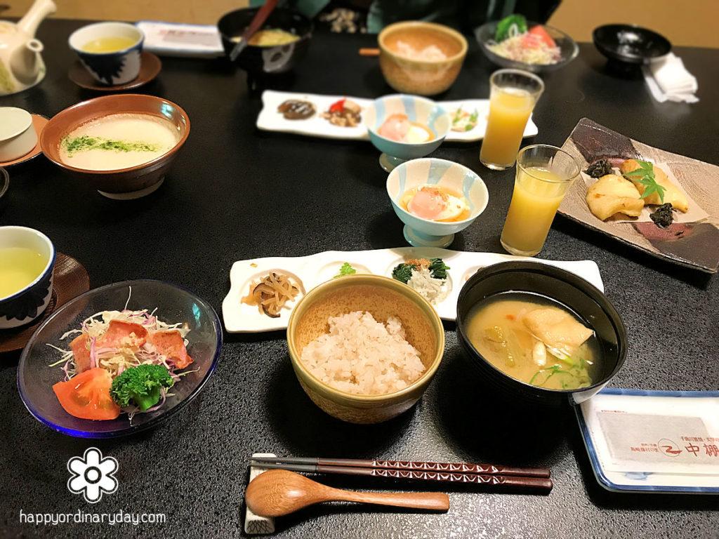 中棚荘の朝食