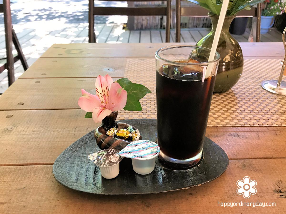 中棚荘のアイスコーヒー