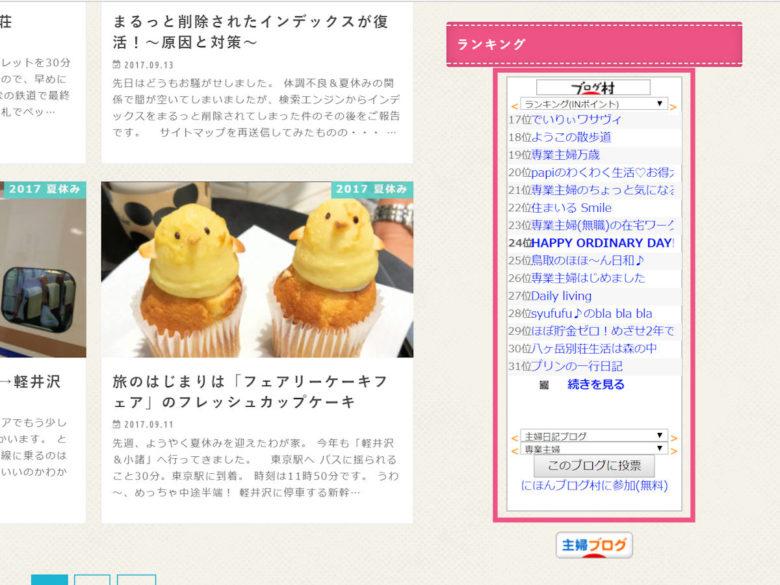 日本ブログ村・PVランキングに参加