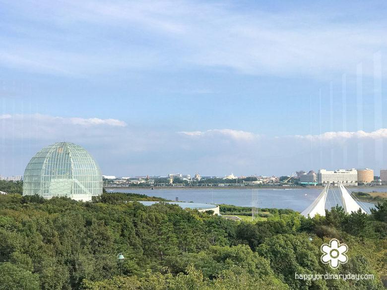 クリスタルビューからの眺望・水族園方面