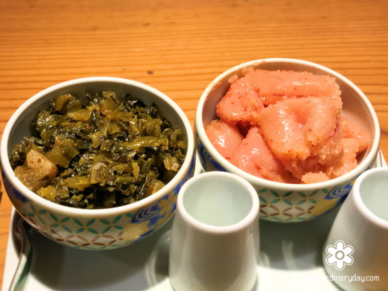 食べ放題の明太子&高菜