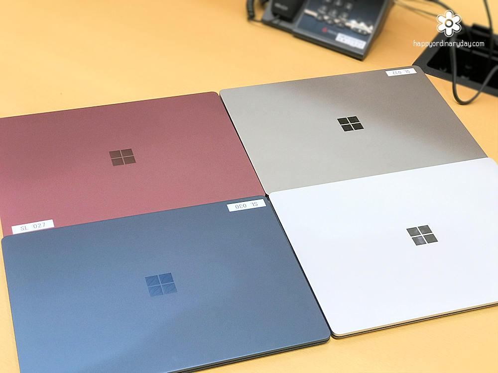 Surface Laptopのカラーバリエーション