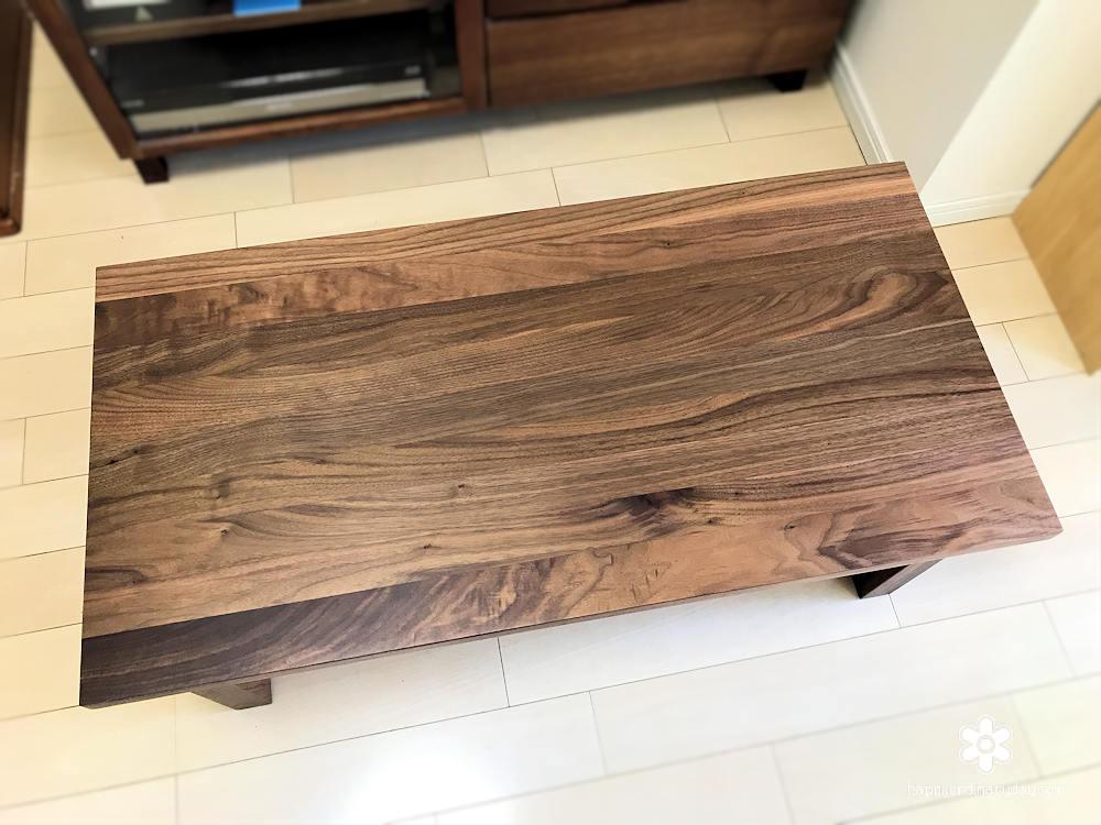 無垢材ローテーブル・ウォールナット材 幅90×奥行45×高さ35cm