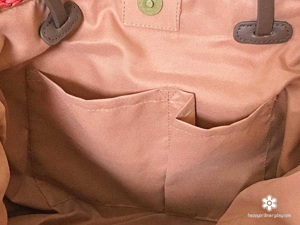 2WAYペーパートートバッグの内ポケット
